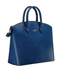 OSPREY LONDON The Avery in navy Polished Calf leather, RRP -ú325